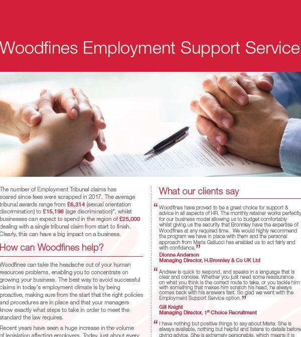 Woodfines Employment Support Service WESS | Woodfines Solicitors