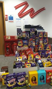 Easter egg donation | 2019 | Woodfines Solicitors