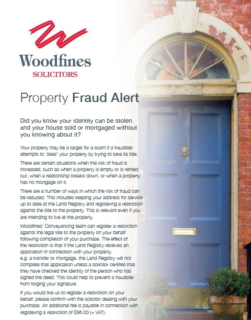 Property Fraud | Woodfines Solicitors